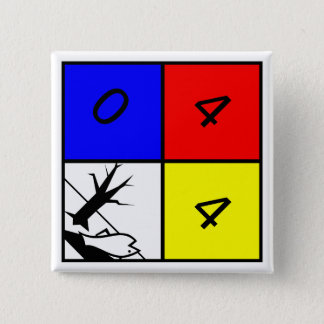 Chemical Warning Hazard to the Environment 2 Inch Square Button
