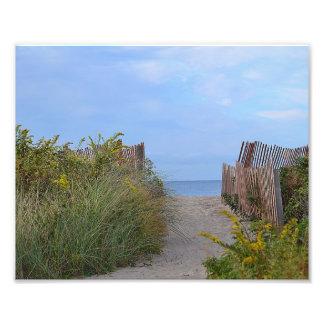 Chemin à la copie de photo de plage