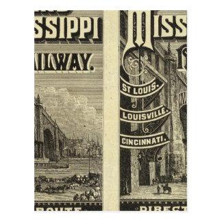 Chemin de fer de l'Ohio et du Mississippi Cartes Postales
