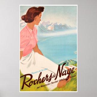 Chemin de Fer des Rochers de Naye, sur Montreux, Poster