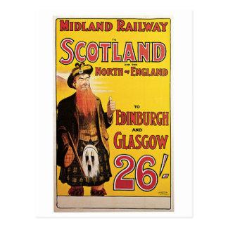 Chemin de fer intérieur vers l'Ecosse Carte Postale