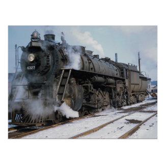 Chemin de fer occidental de tronc grand, 2-8-4, no carte postale