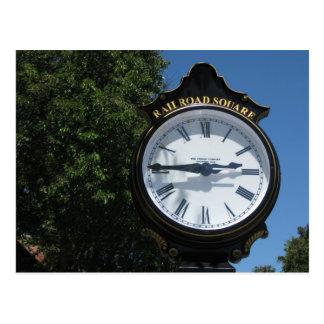 Chemin de fer Santa Rosa carré, CA d'horloge Cartes Postales