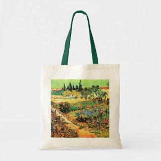 Chemin de jardin fleurissant de Van Gogh, Sac En Toile Budget