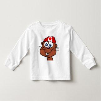 Chemise 2 d'enfant en bas âge de castor de jour du t-shirt pour les tous petits
