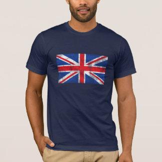 Chemise britannique de drapeau affligée t-shirt