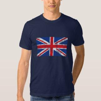Chemise britannique de drapeau affligée tshirt