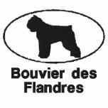 Chemise brodée par Flandres ovale de DES de Bouvie