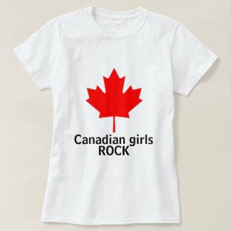 Chemise canadienne de dames de roche de filles t-shirt