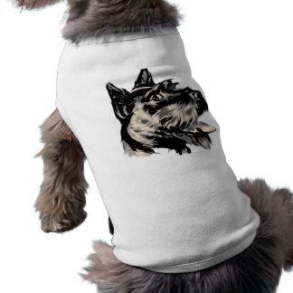 Chemise d'animal familier de chien de Scotty Tee-shirts Pour Animaux Domestiques