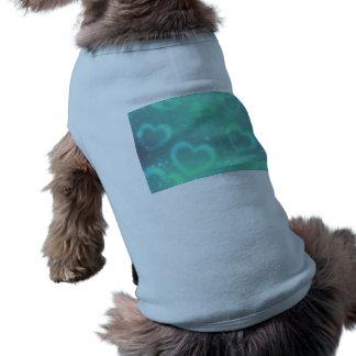 Chemise d'animal familier de conception de coeur d manteau pour toutous