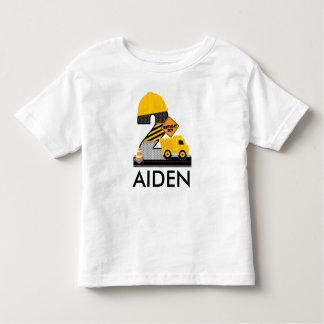 Chemise d'anniversaire de construction, âge 2 de t-shirt pour les tous petits