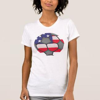 Chemise de ballon de football de drapeau américain tee shirt
