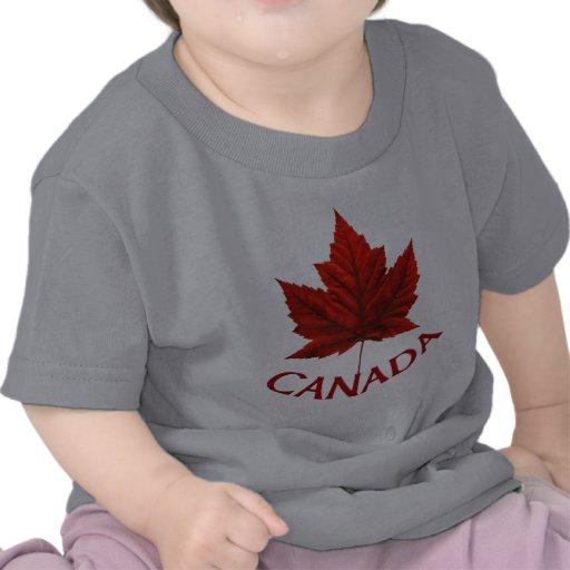 Chemise de bébé de feuille d'érable rouge de t-shirt