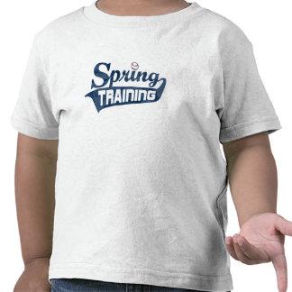 Chemise de bleu d entraînement printanier t-shirts
