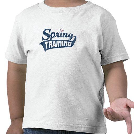 Chemise de bleu d'entraînement printanier t-shirts