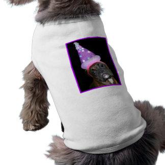 Chemise de chien de boxeur de joyeux anniversaire tee-shirts pour toutous