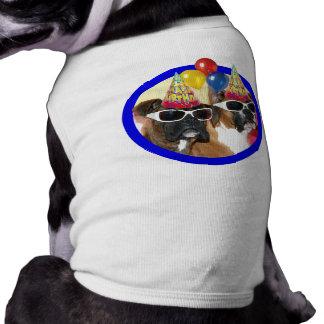 Chemise de chien de boxeurs de joyeux anniversaire manteau pour chien