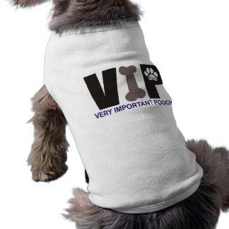 Chemise de chien de PawsID VIP T-shirts Pour Animaux Domestiques