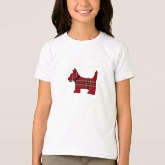 Chemise de chien de Scotty de plaid Tee-shirt