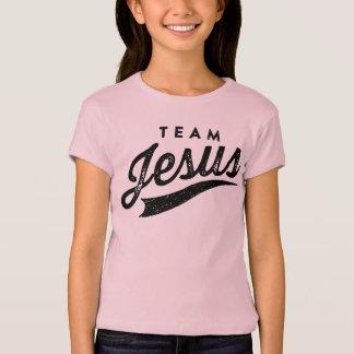 Chemise de filles de logo de Jésus d'équipe T-shirt