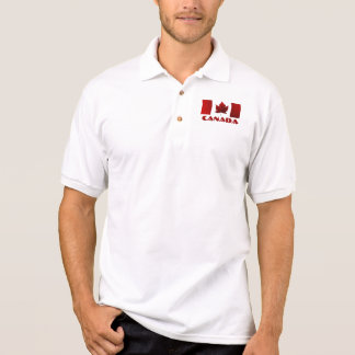 Chemise de golf du Canada de polo de drapeau du Ca