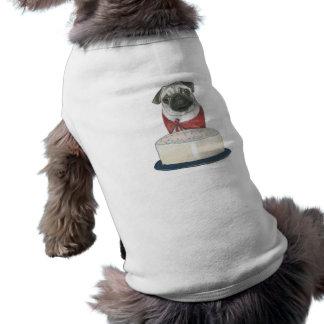 Chemise de joyeux anniversaire pour un chien tee-shirts pour animaux domestiques
