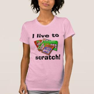Chemise de lumière d'Éraflure- de loterie Tee-shirt