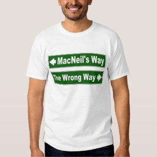 Chemise de MacNeil de clan de plaque de rue de la T Shirt