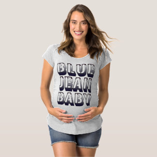 Chemise de maternité de bébé de blue-jean T-Shirt de maternité