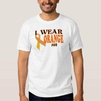 Chemise de modèle de ruban de conscience de Cancer T Shirts