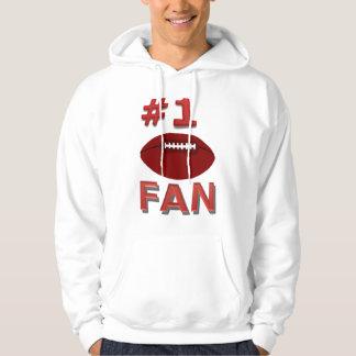 Chemise de passioné du football du numéro 1 pulls avec capuche
