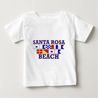 Chemise d'enfant en bas âge de plage de Santa Rosa T-shirt Pour Bébé