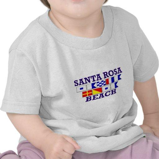 Chemise d'enfant en bas âge de plage de Santa Rosa T-shirt