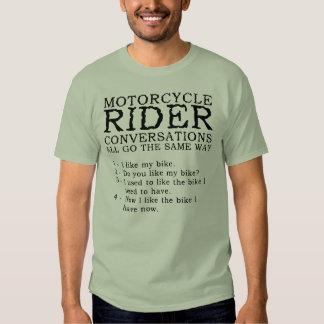 Chemise drôle de conversations de moto tshirt