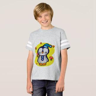 Chemise du football américain des enfants, gris de t-shirt