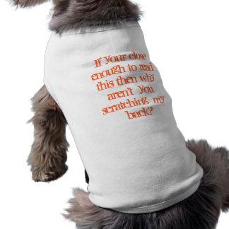 Chemise impertinente de chien manteaux pour chien