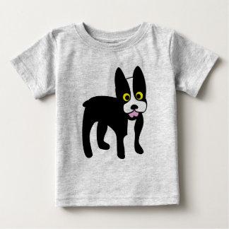 Chemise mignonne de Boston Terrier de bande T-shirt Pour Bébé