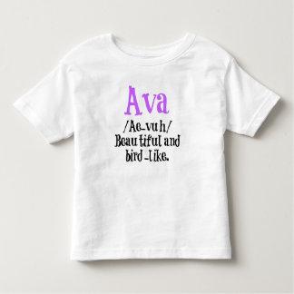 Chemise nommée de description d'Ava Tshirts