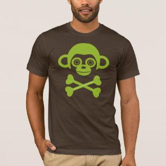Chemise non finie de crâne de singes t-shirt