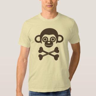 Chemise non finie de crâne de singes tee shirts