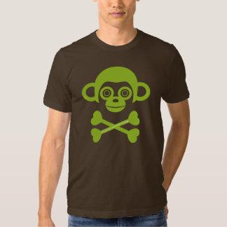 Chemise non finie de crâne de singes tshirt
