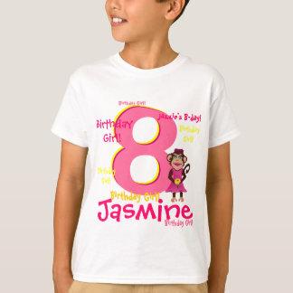 Chemise personnalisée de fille d'anniversaire tshirts