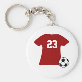 Chemise personnalisée du football avec le porte - porte-clé rond