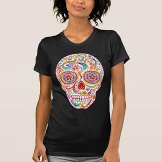Chemise psychédélique de crâne de sucre t-shirt