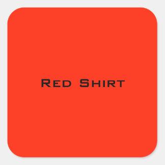 Chemise rouge sticker carré