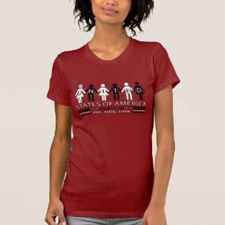 Chemise unie de Barack Obama noire et blanche Tee-shirts