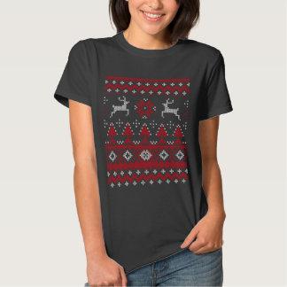Chemises drôles de Noël de chandail laid T-shirt