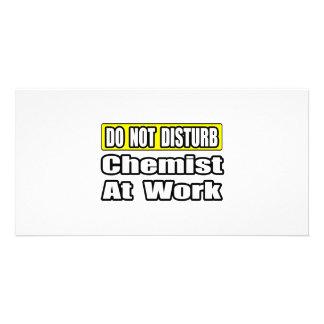 Chemist At Work Custom Photo Card