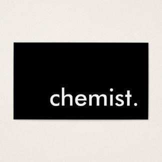 chemist. business card